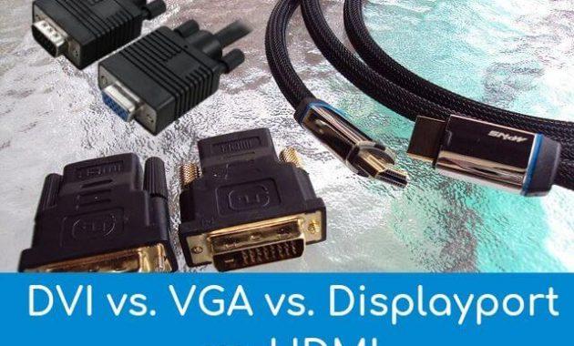 DVI vs. VGA vs. Displayport vs. HDMI