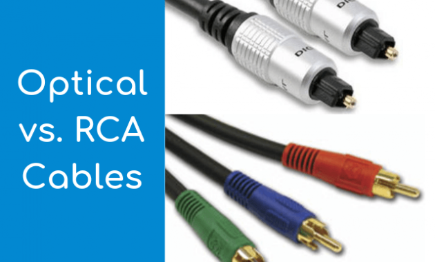 Finddiffer Optical vs RCA Cables
